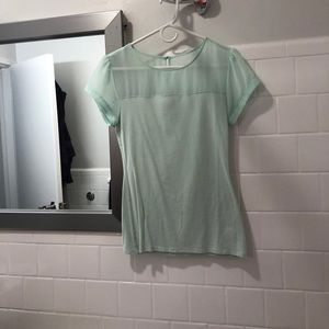 Express mint green sweetheart/mesh shirt